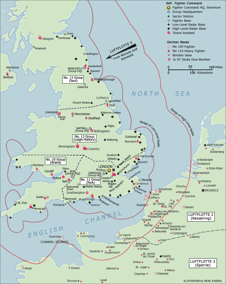 Battle Of Britain Hermes Wings - Britain on a map