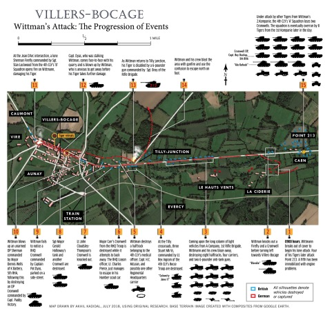 Map - Villers-Bocage - Wittman's Attack