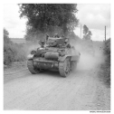 Stuart tanks of 8th King's Royal Irish Hussars, 7th Armoured Division, 15 June 1944.
