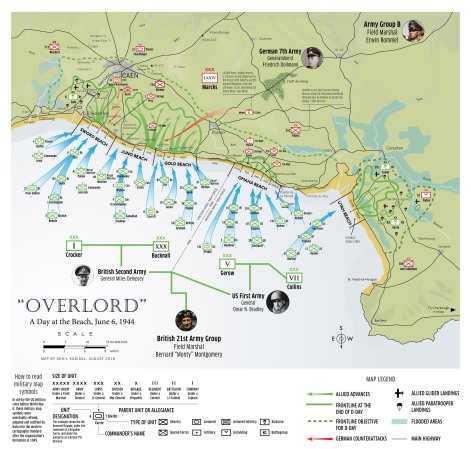 Normandy D-Day Map