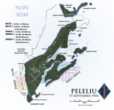 Peleliu Map 15 September 1944