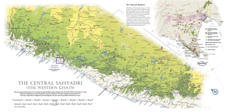Western Ghats Map (Sectional)