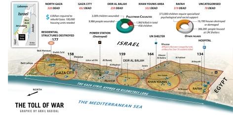 Gaza Toll, August 2014