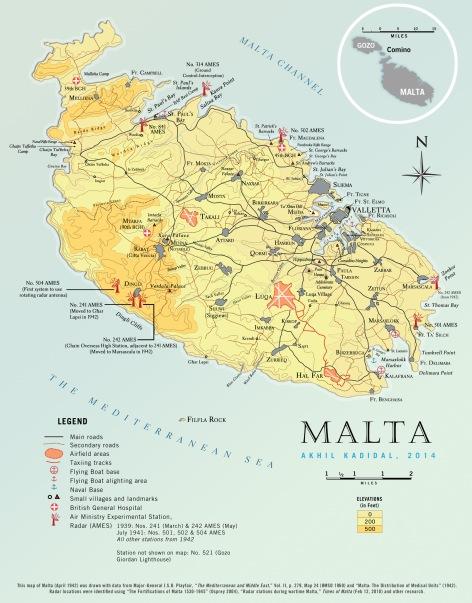 Malta Map 1942